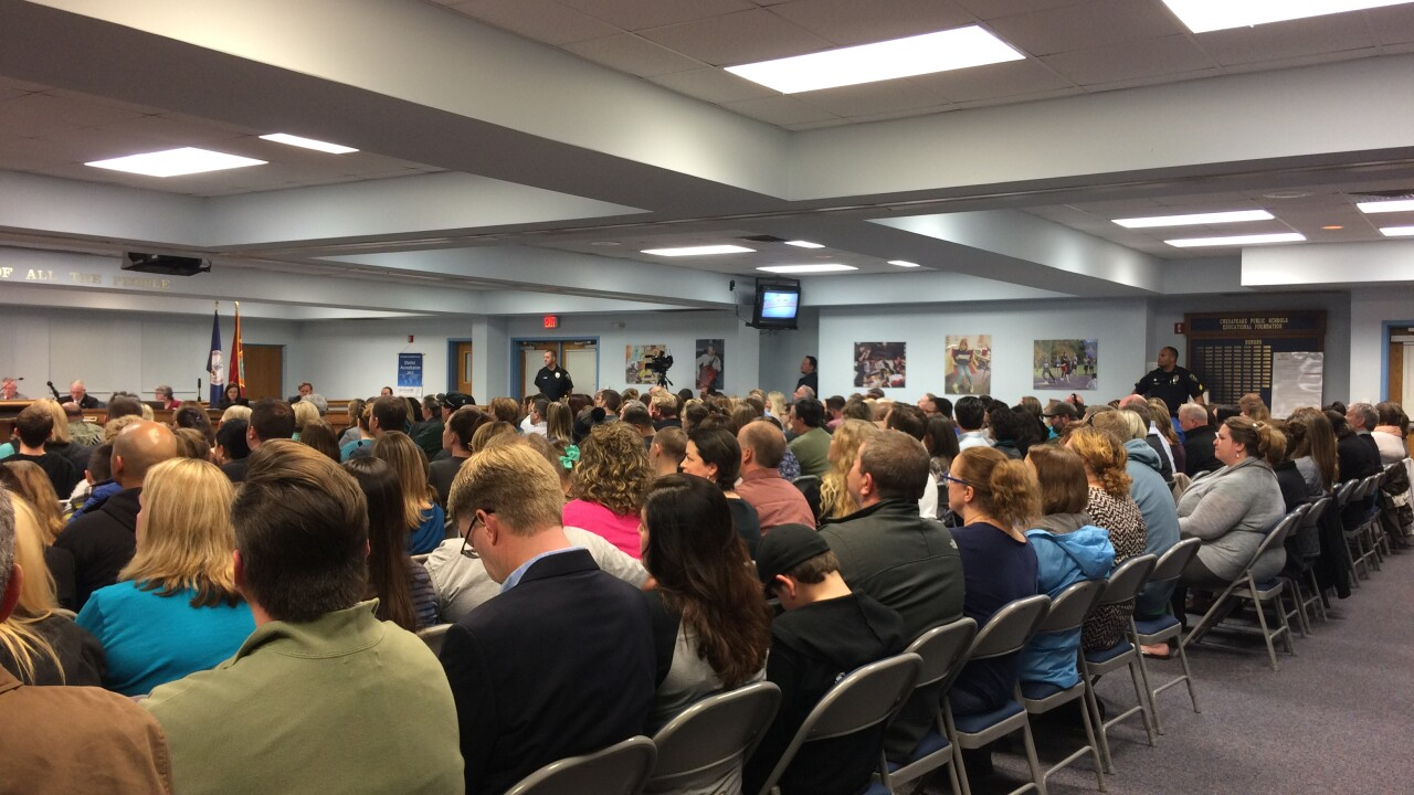 Chesapeake families pack school board meeting to voice their opinion on rezoning