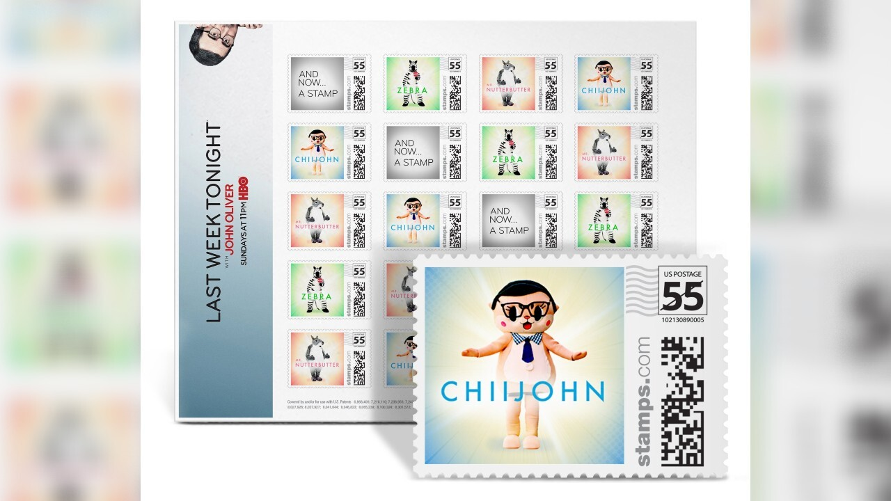 John Oliver creates line of stamps to help save Postal Service from going under