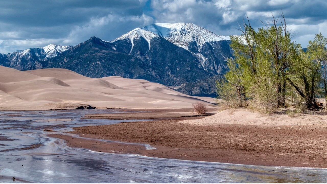 Medano Creek at the Great Sand Dunes National Park and Preserve by Larry Marr.jpg