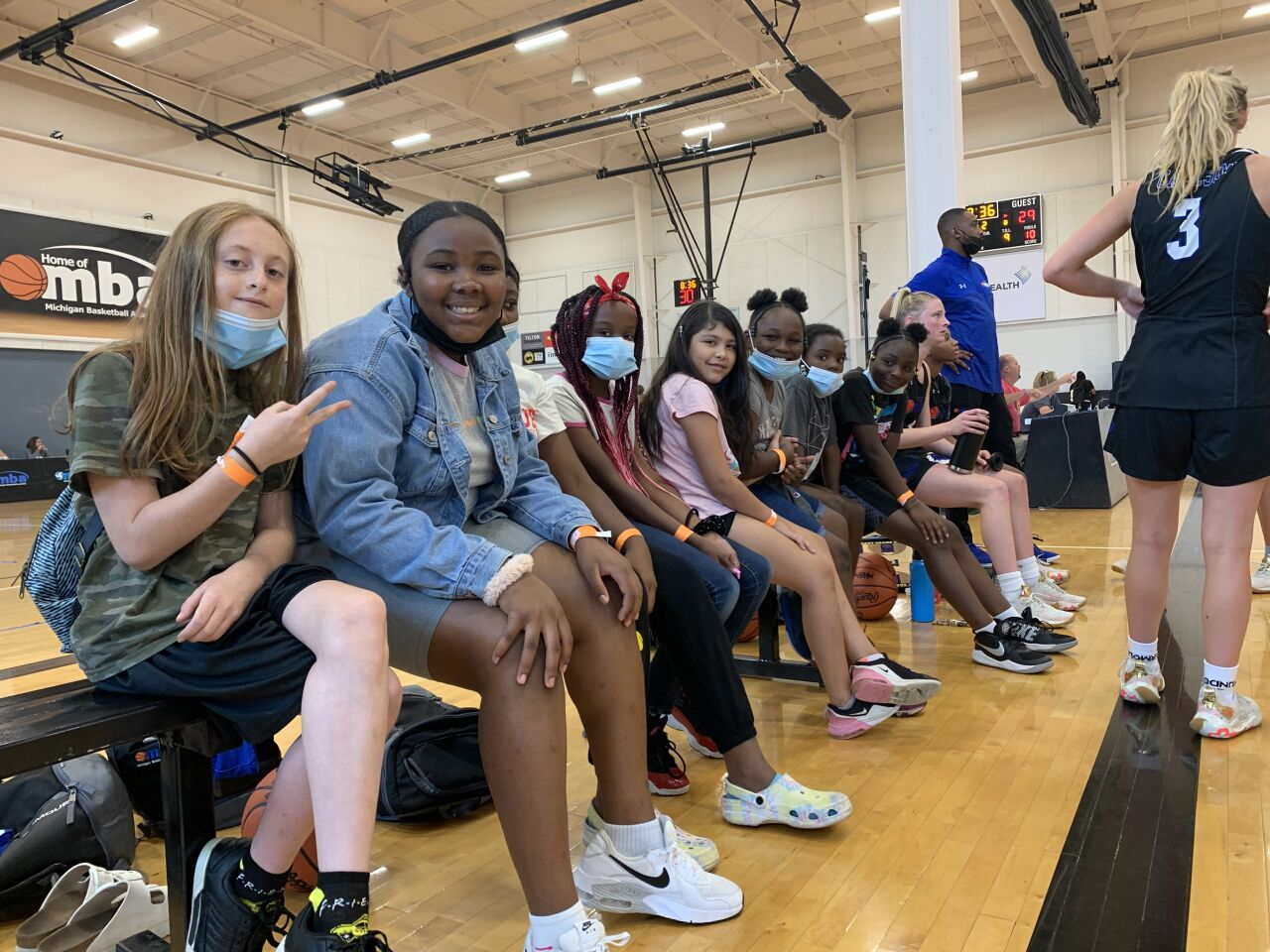 Boys & Girls Club of Grand Rapids takes in a basketball game
