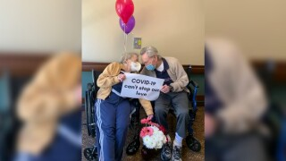 90-year-old woman reunites with 'true love of 67 years' after overcoming COVID-19