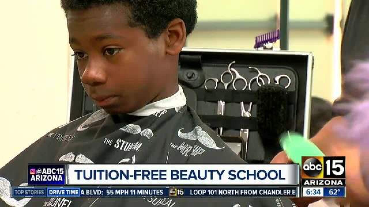 Valley beauty school cutting costs for tuition