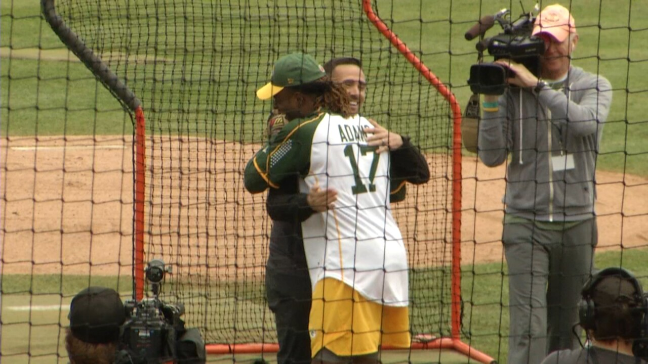 Matt LaFleur throws out first pitch at Green & Gold Charity Softball Game