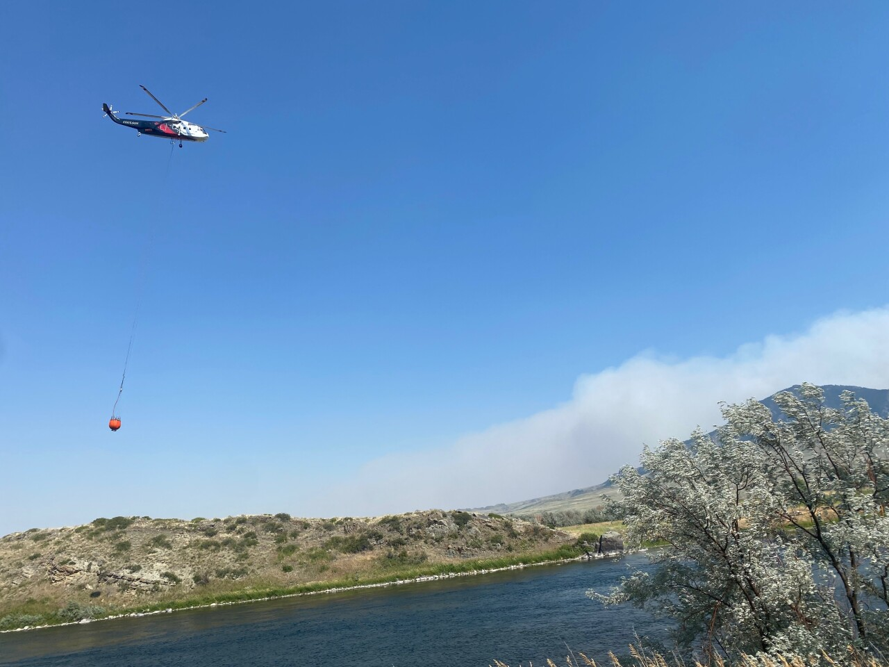 Wildfire reported between Craig and Cascade