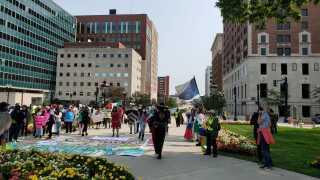 Cosecha Michigan Rallies at Capitol Building