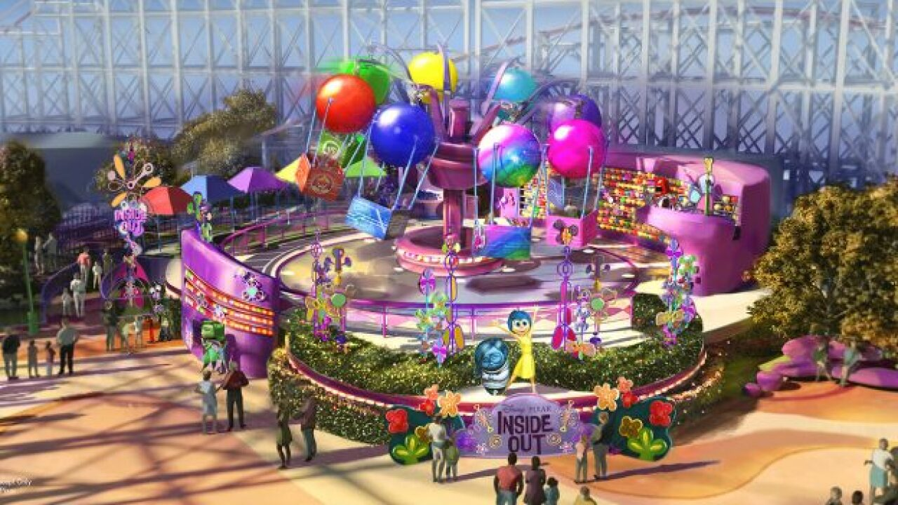 New 'Inside Out' ride opening at California Adventure Park this summer