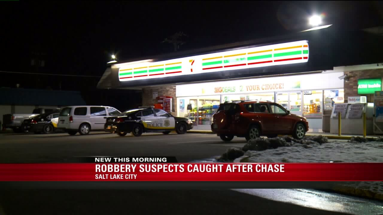 Two men in custody on suspicion of armed robbery at SLC 7-Eleven