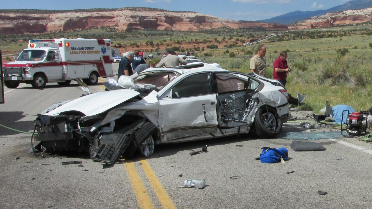 Names released in multiple-vehicle accident near Moab