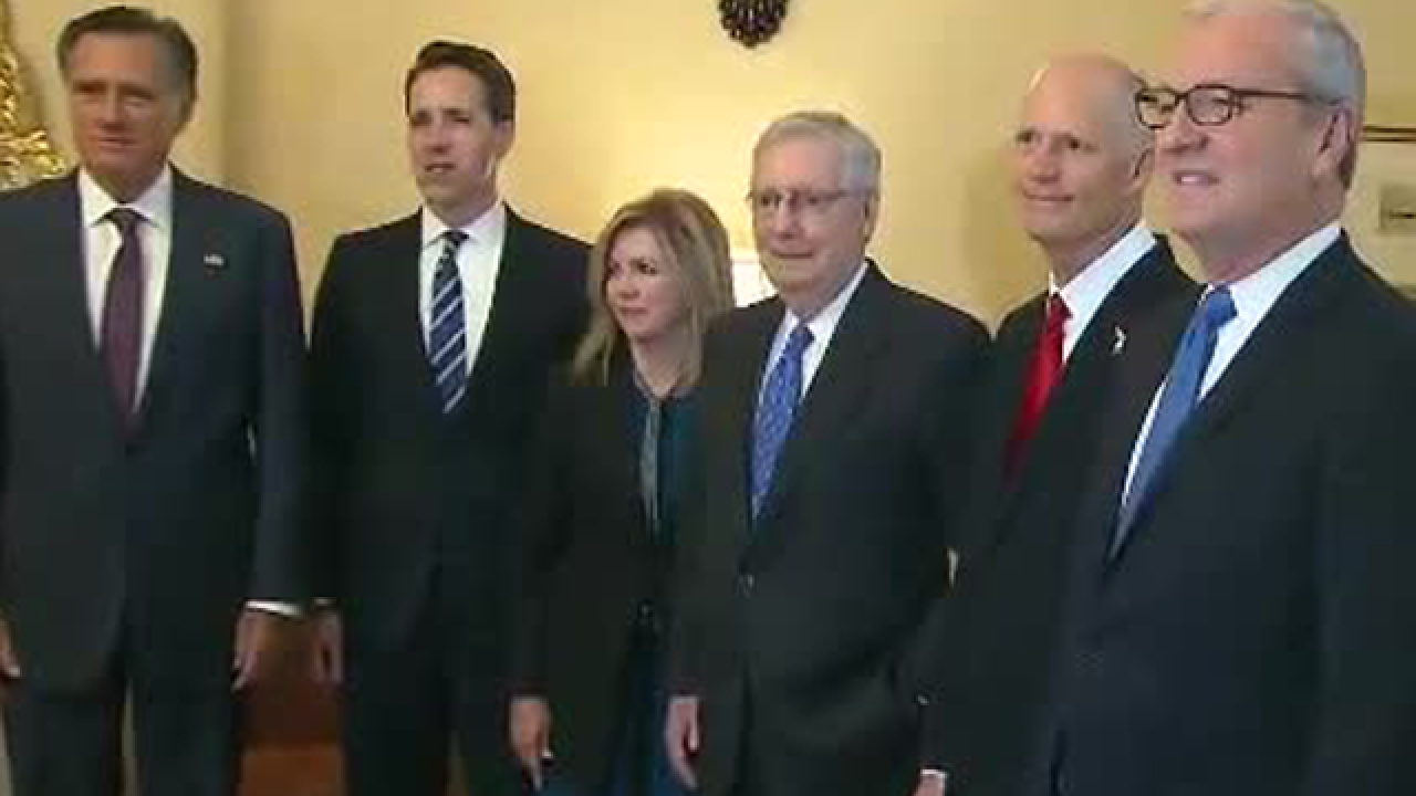 Scott appears with newly-elected GOP Senators