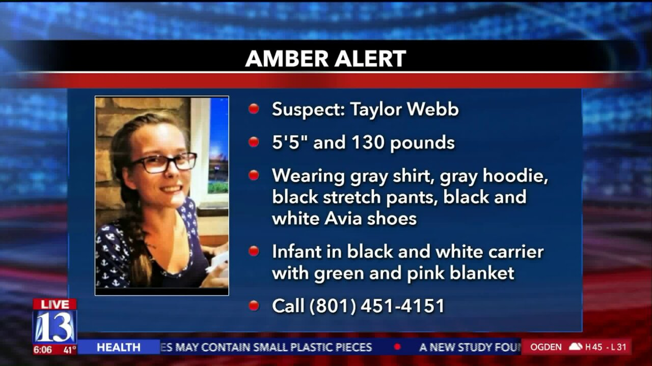 Utah Amber Alert activated for missing 3-week-old girl