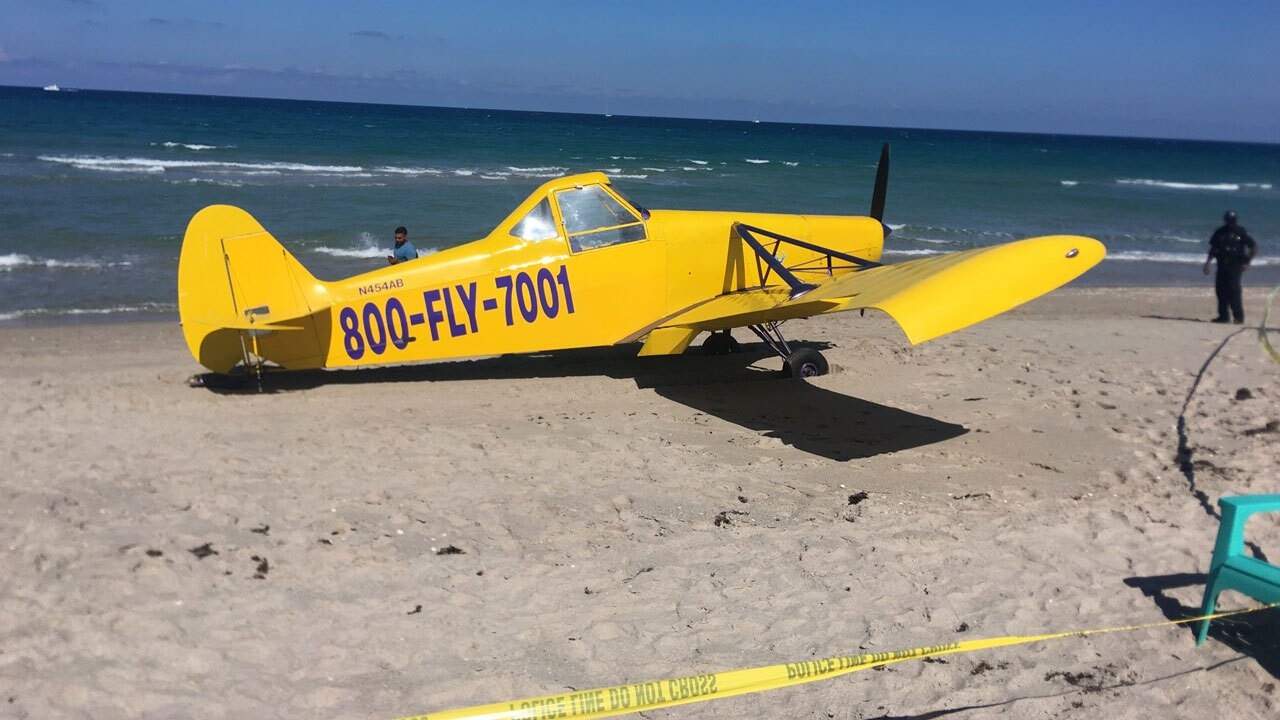 Small plane makes emgergency landing on Palm Beach on May 28, 2021
