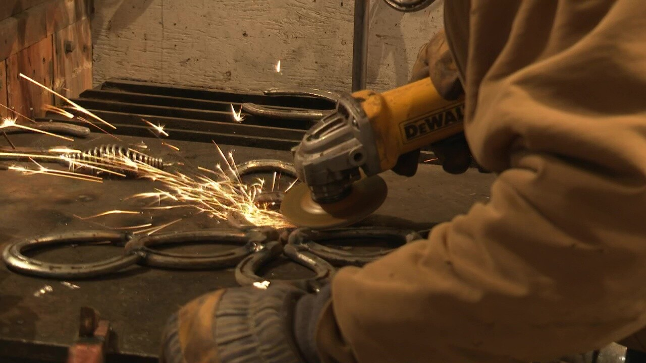 Montana Ag Network: turning horseshoes into functional art
