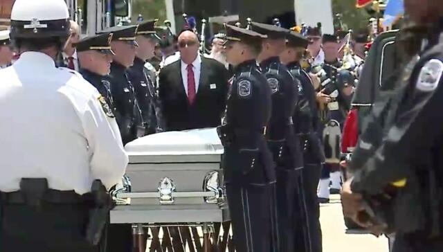 Officer Adam Jobbers-Miller's funeral procession