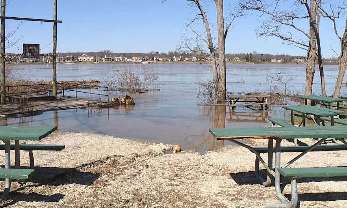 Flooded camp ground