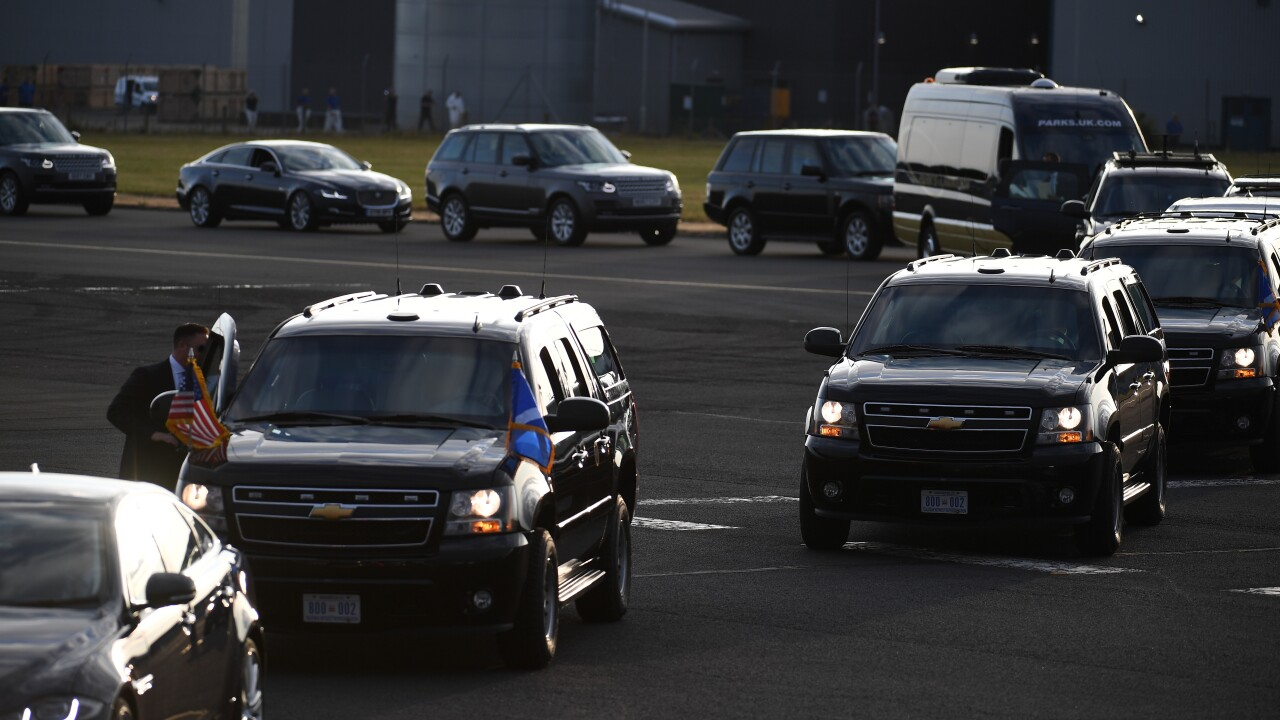 Three officers in Trump motorcade reportedly injured