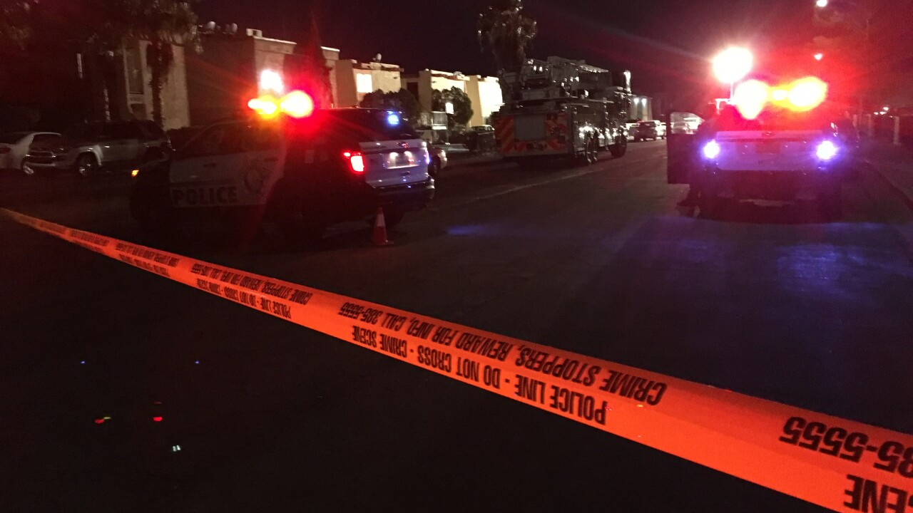 Las Vegas Police and Las Vegas Fire and Rescue investigate a possible hazardous substance that is suspected in a person's death near Flamingo and Decatur.