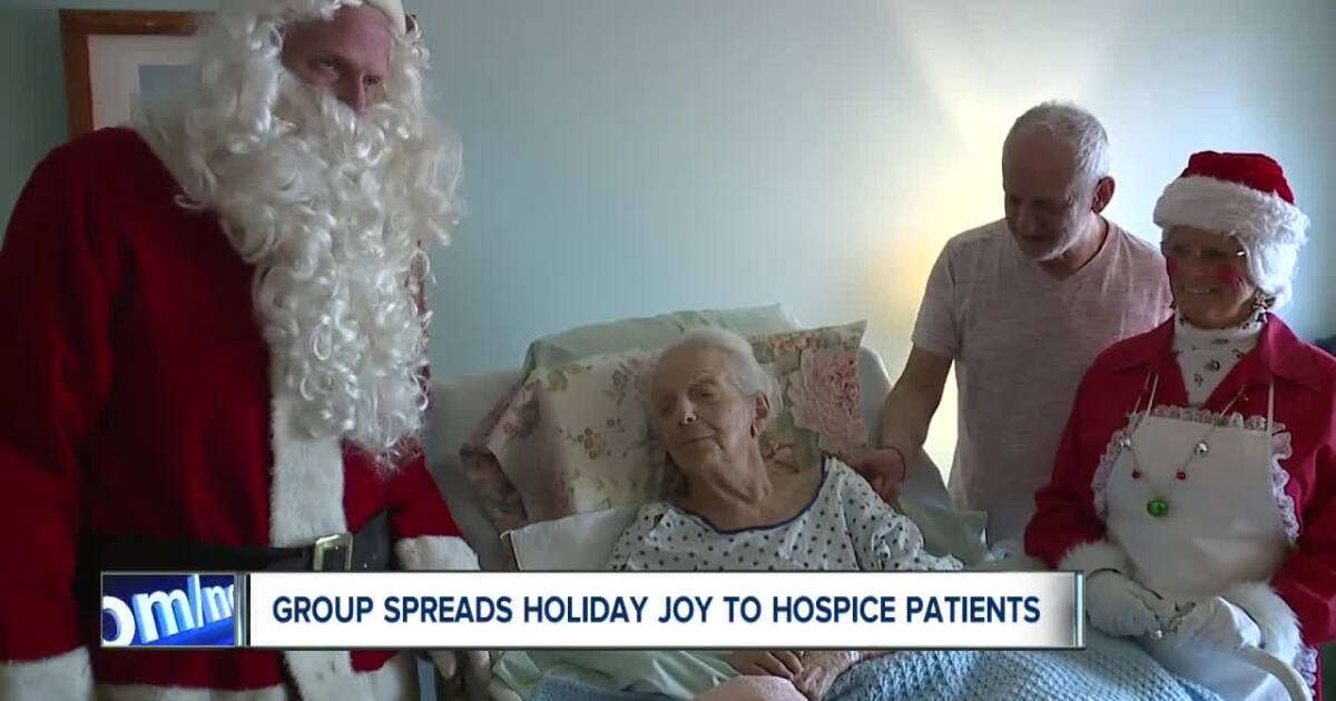 Image result for family visits hospice christmas