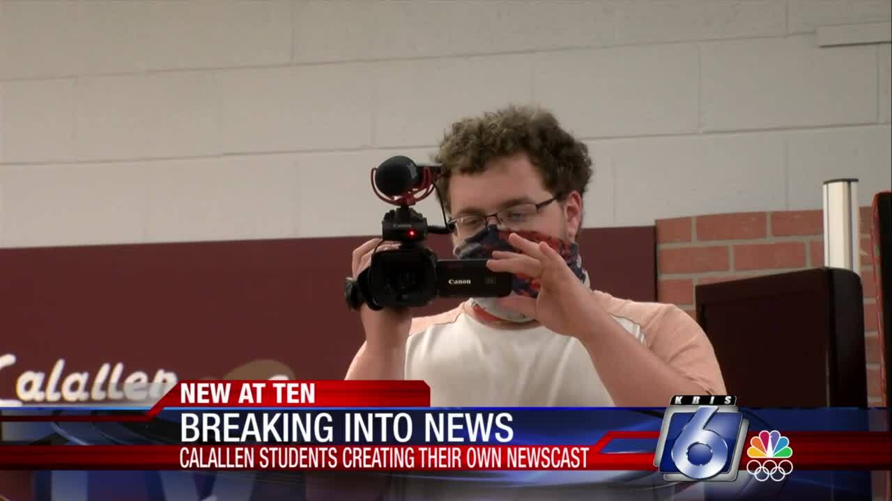 Young broadcasters at Calallen High School are receiving invaluable experience