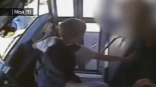 Bus driver arrested after video shows him slam on brakes, send child into windshield