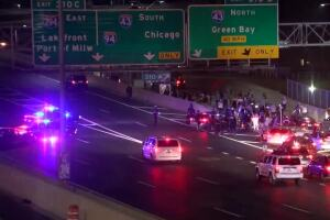 Protesters march onto I-94 and through Milwaukee, calling for justice for Breonna Taylor