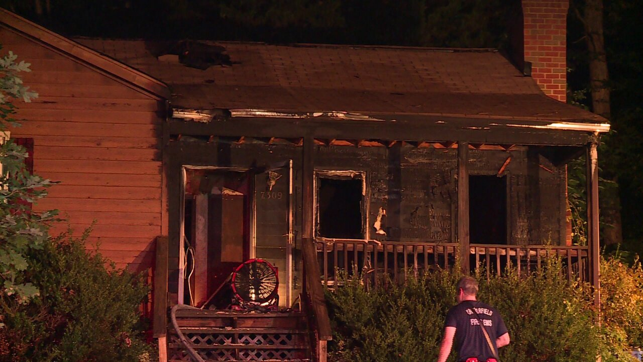 Cigarettes spark Chesterfield housefire