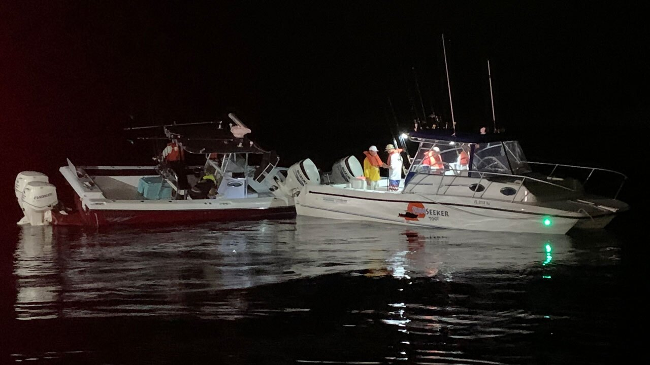 Boat collision off Fort Pierce on Jan. 20, 2021