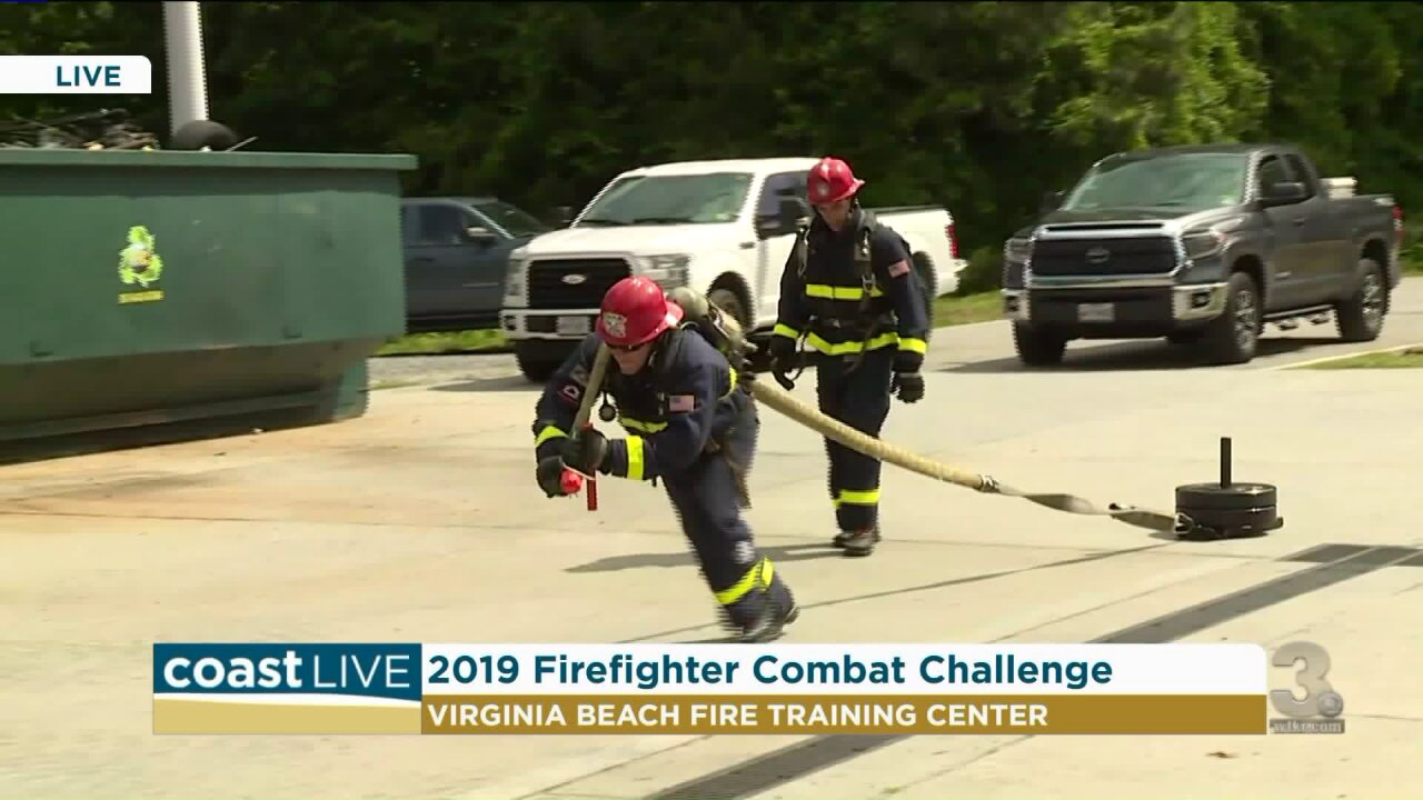 Training for the 2019 Firefighter Combat Challenge on CoastLive
