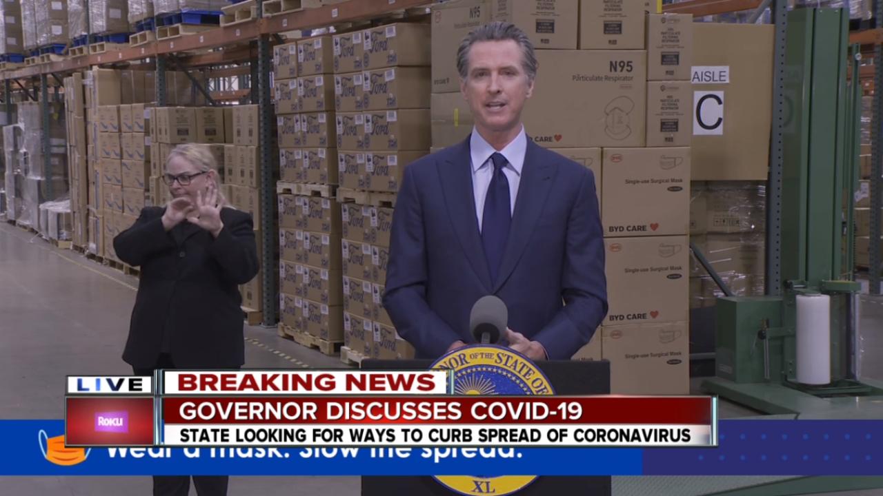 Governor Gavin Newsom California Coronavirus Update