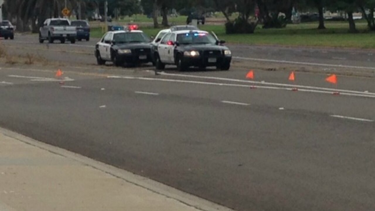 Bicyclist hit by car on Mission Bay Drive