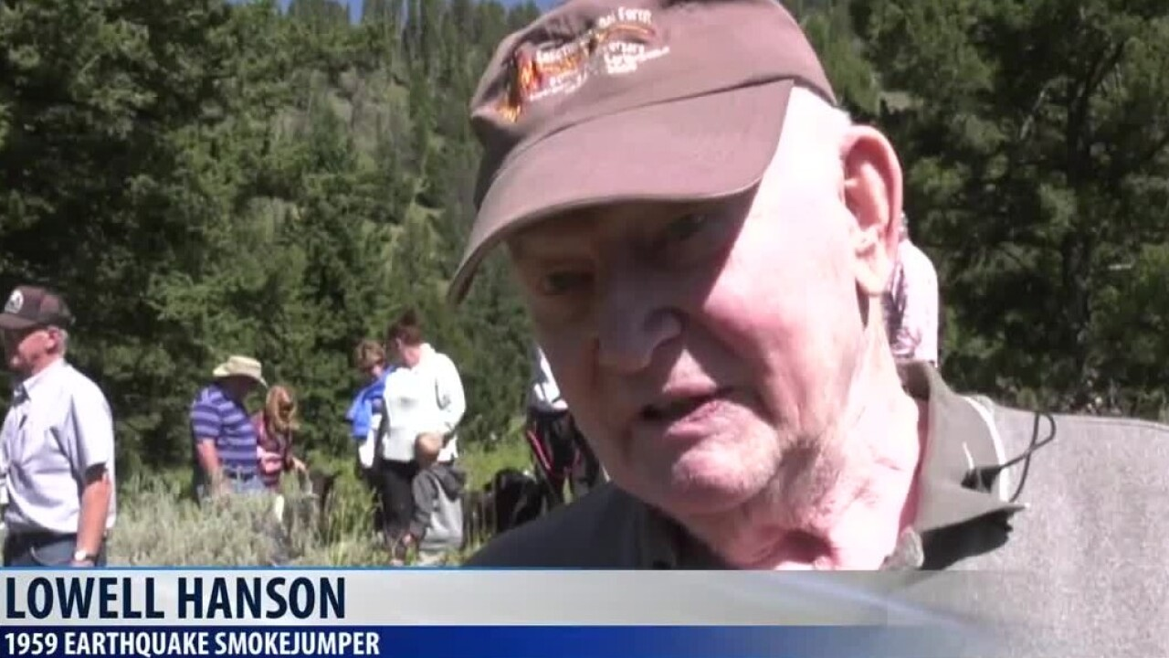 Hundreds gather to watch smokejumper reenactment at Refuge Point