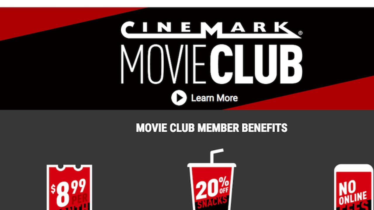 Cinemark theater chain launches Netflix-like subscription plan