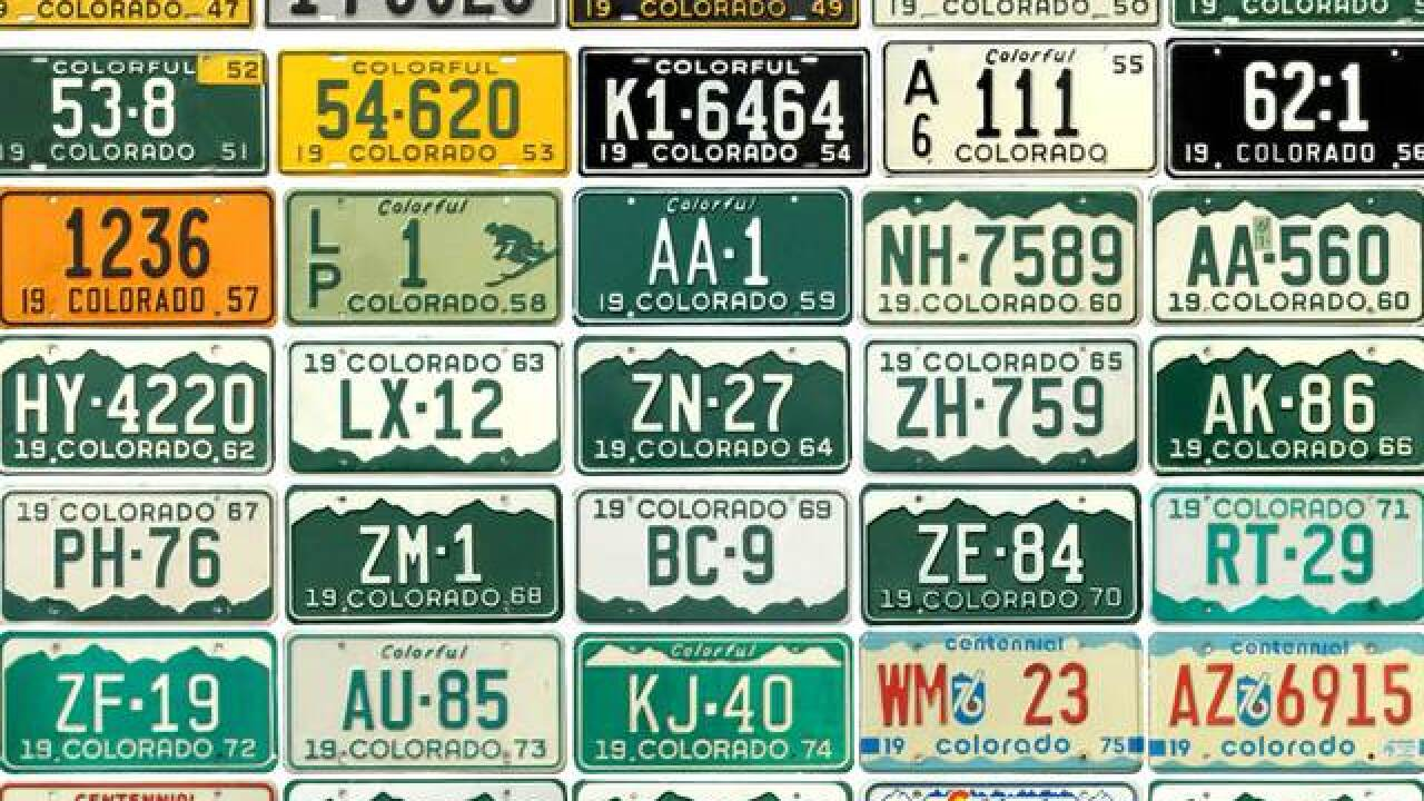Random Letters COLORADO Green Mountains License Plate CO
