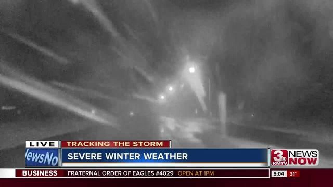 Snow impacts Omaha Sunday
