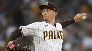 Dodgers Padres Baseball blake snell