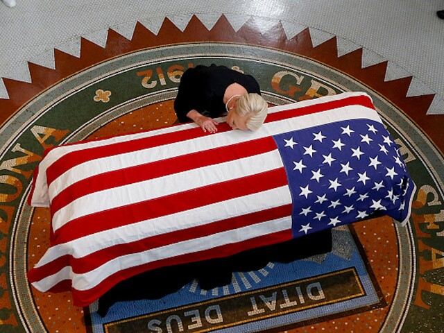 John McCain lies in state at Arizona Capitol building