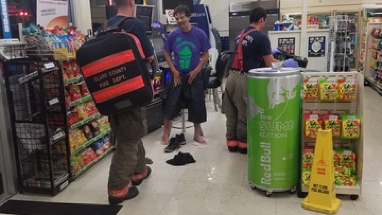 7-Eleven employee rescues man from flood waters
