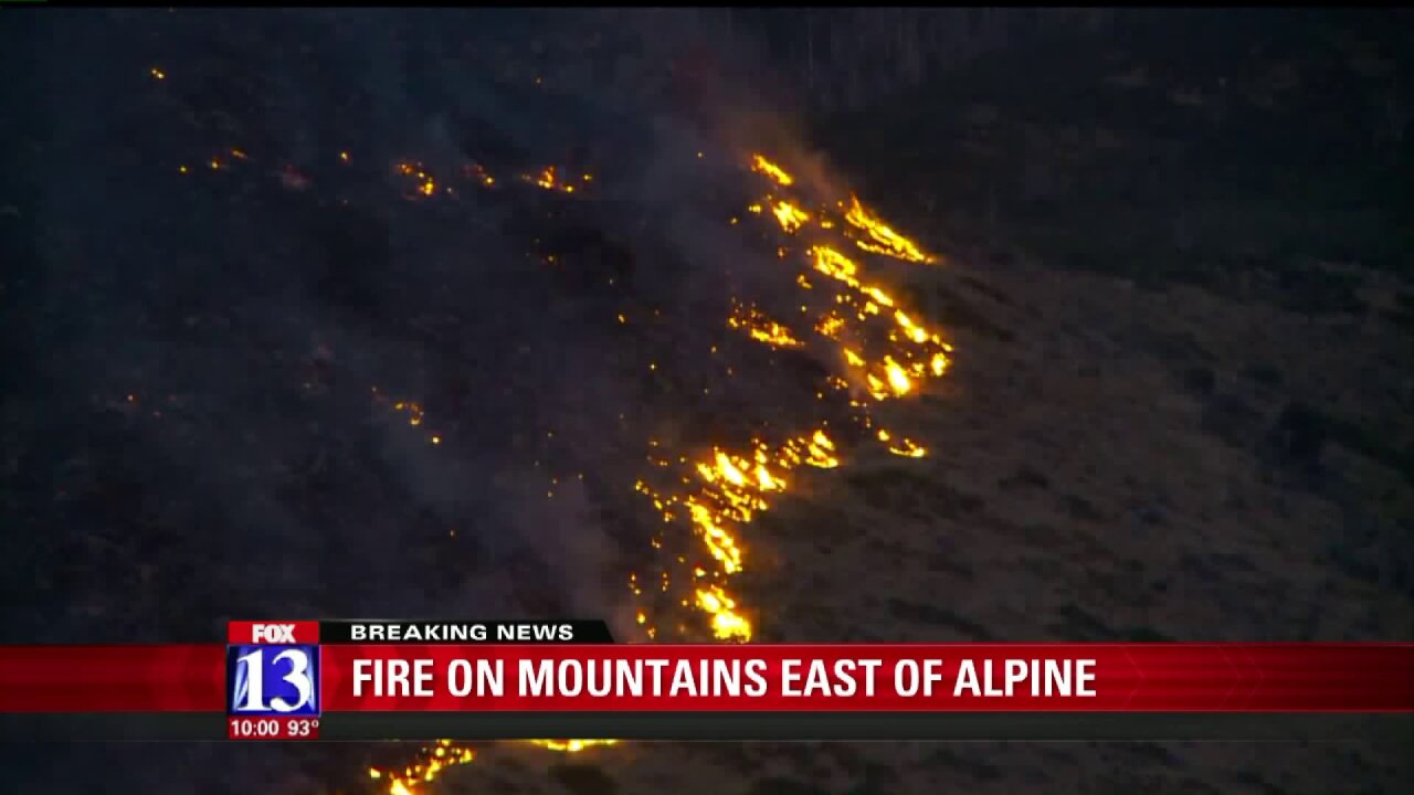 Officials say target shooters sparked brush fire burning on 70 acres near Alpine