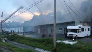 Tallahassee Fire Department battles warehouse fire on Blountstown Street