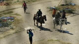 Border patrol Haitian camp