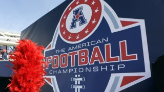 American Athletic Conference Championship game logo on display in 2015