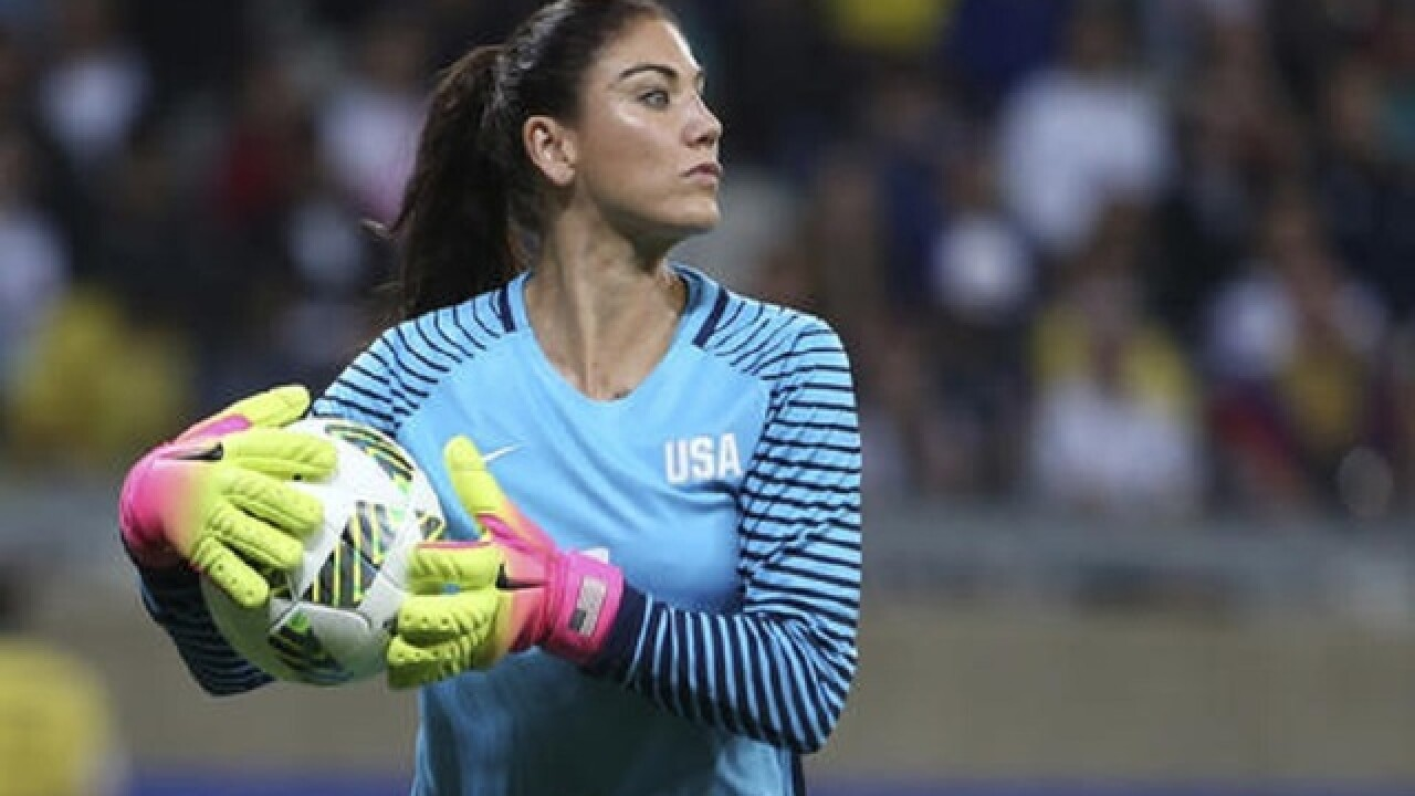National team's Hope Solo suspended for 6 months