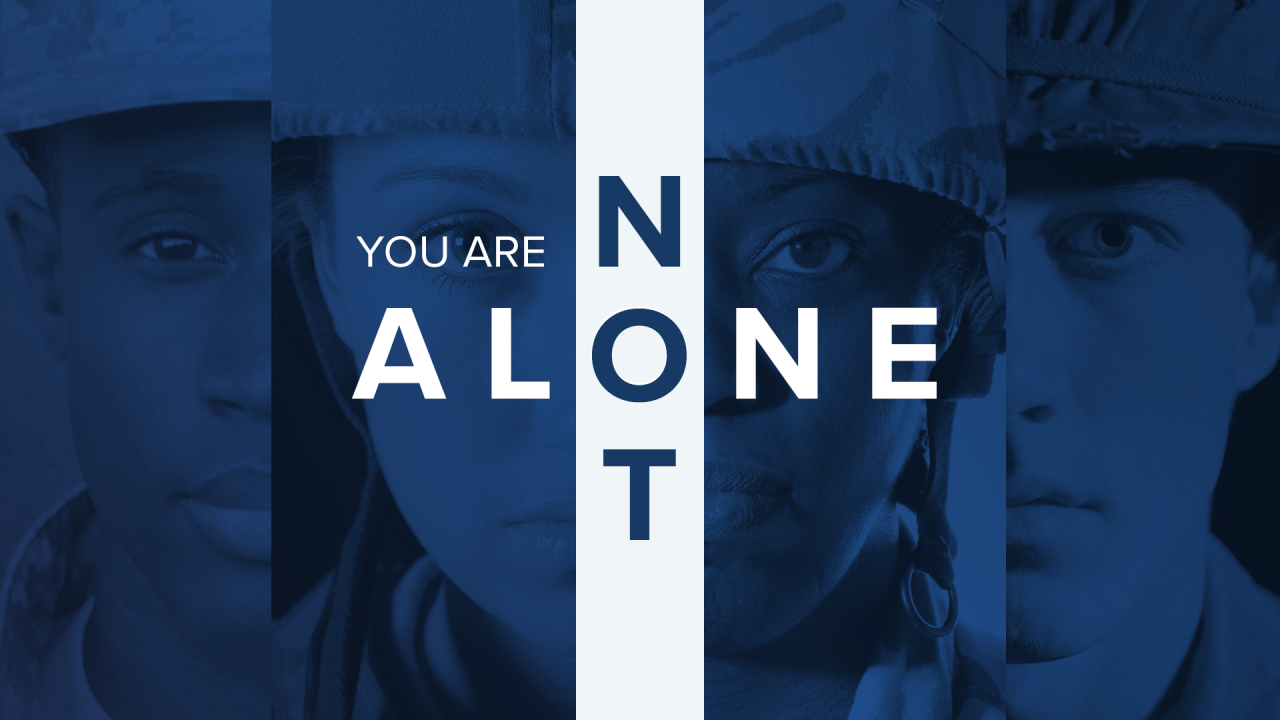 You Are Note Alone - military