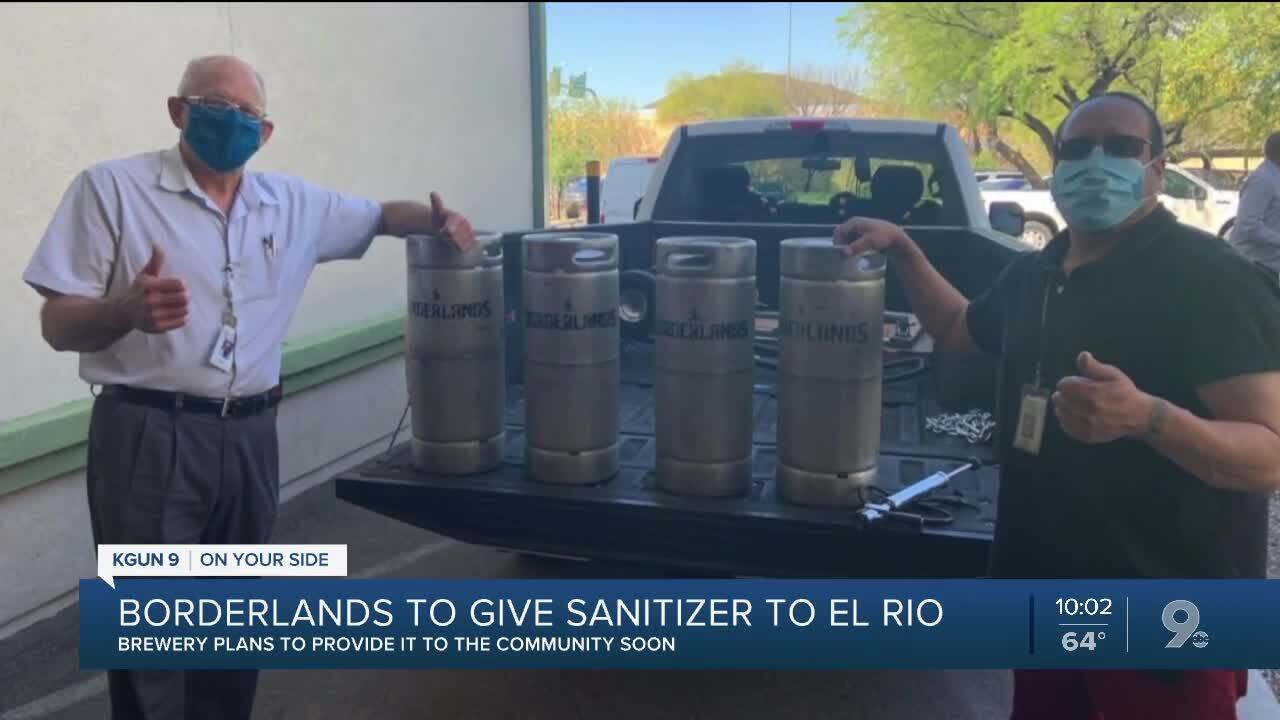Borderlands to give free sanitizer to community