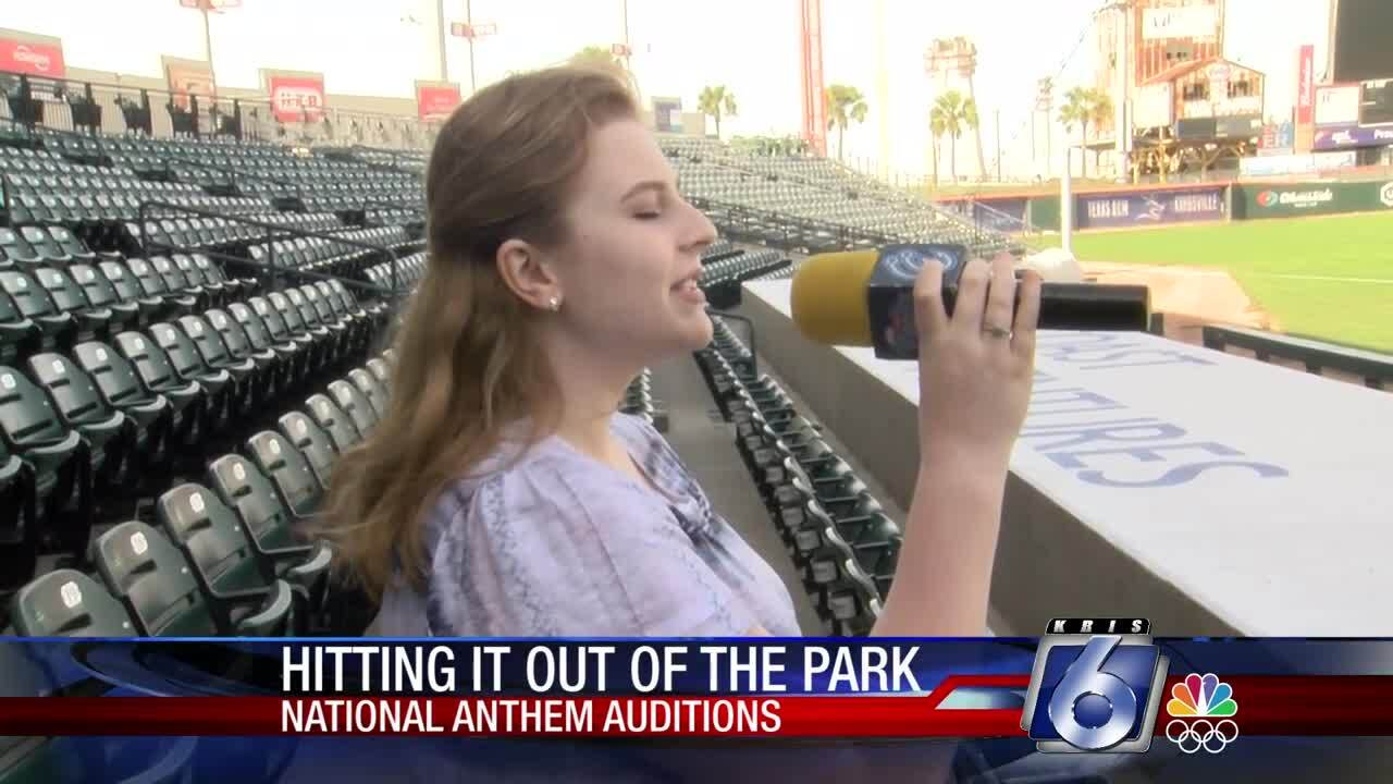 Hooks national anthem auditions