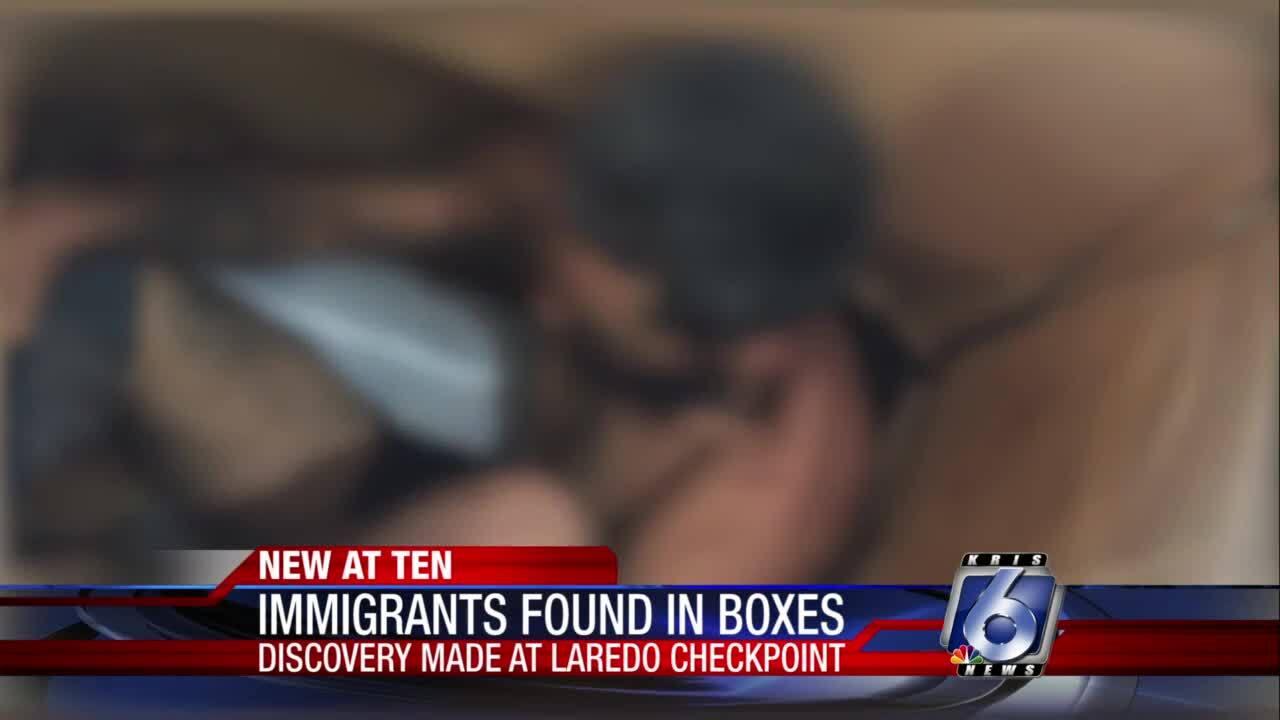 13 immigrants found in carboard boxes near Laredo