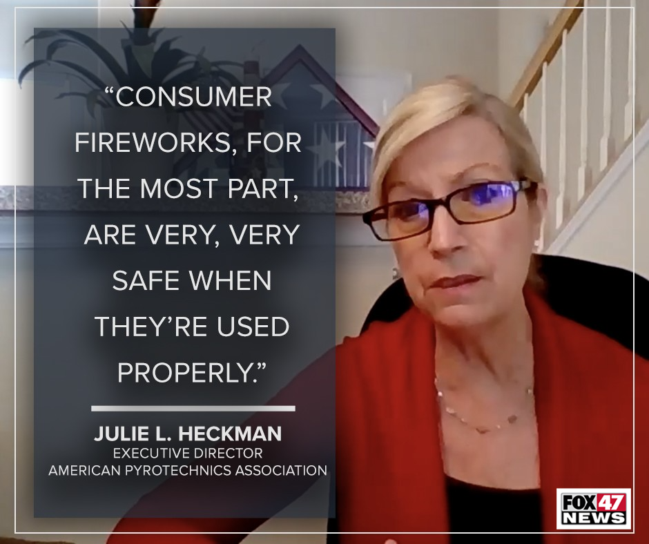 Julie L. Heckman, executive director of the American Pyrotechnics Association