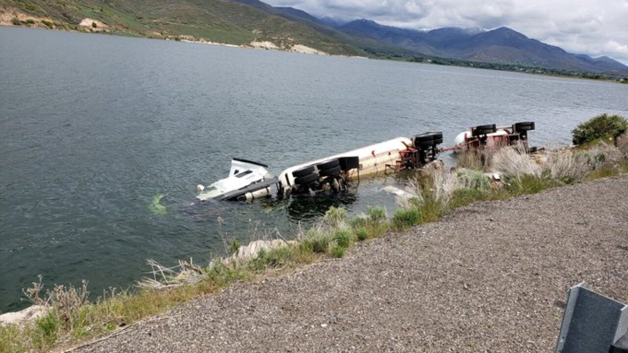 SR 189 reopens after Butane tanker rolls into Deer CreekReservoir