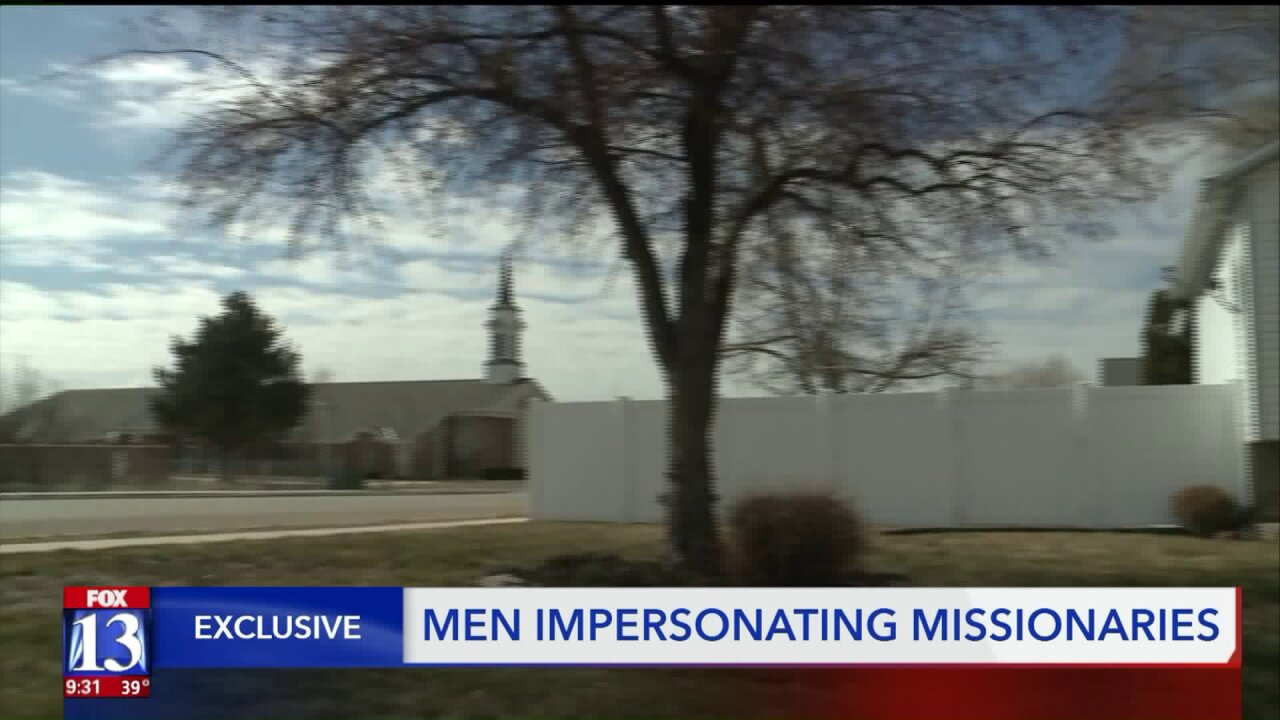 Imposters posing as LDS missionaries targeting homeowners in Roy