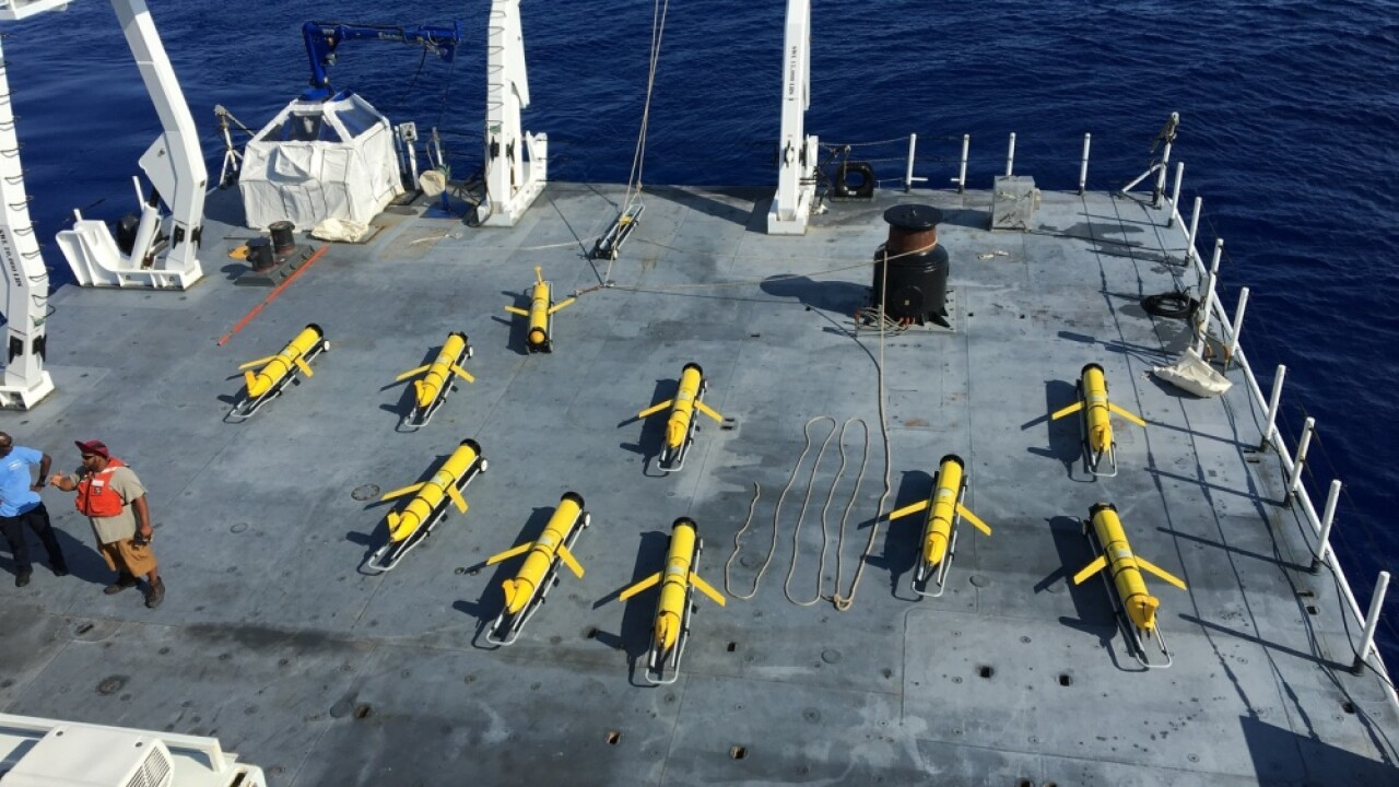 Fleet of underwater Navy drones increasing, could be used to help predict hurricanes