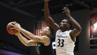 Tulane Green Wave basketball player Sammis Reyes vs. Cincinnati Bearcats in 2017